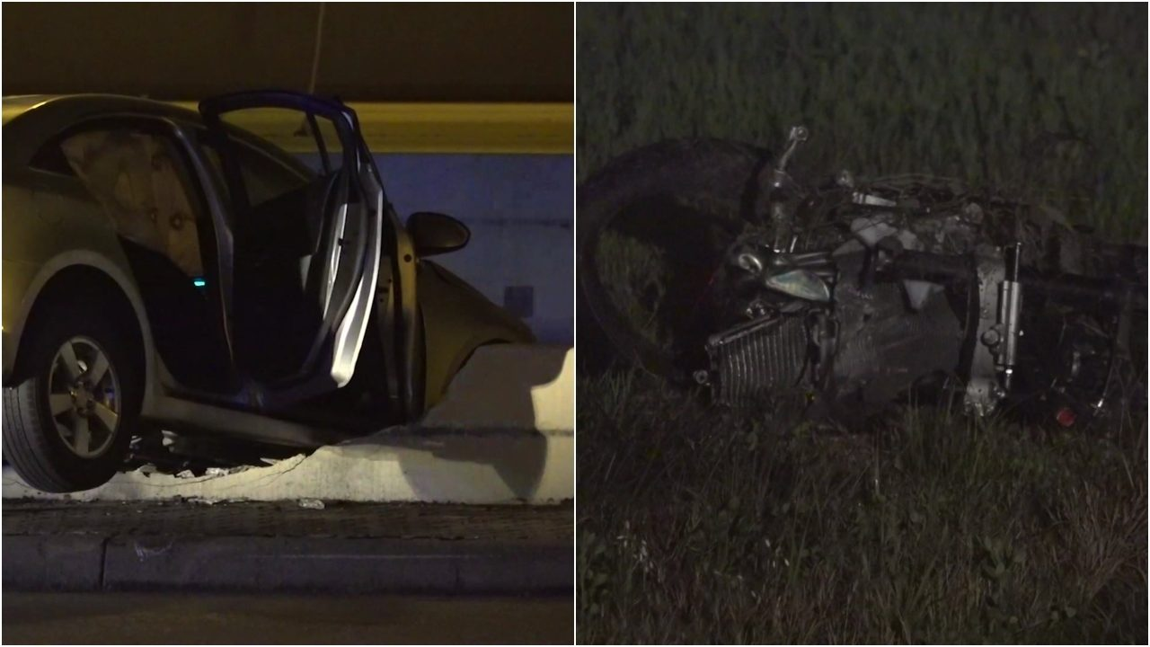 Busy traffic night: Man hit by car, motorcyclist killed in