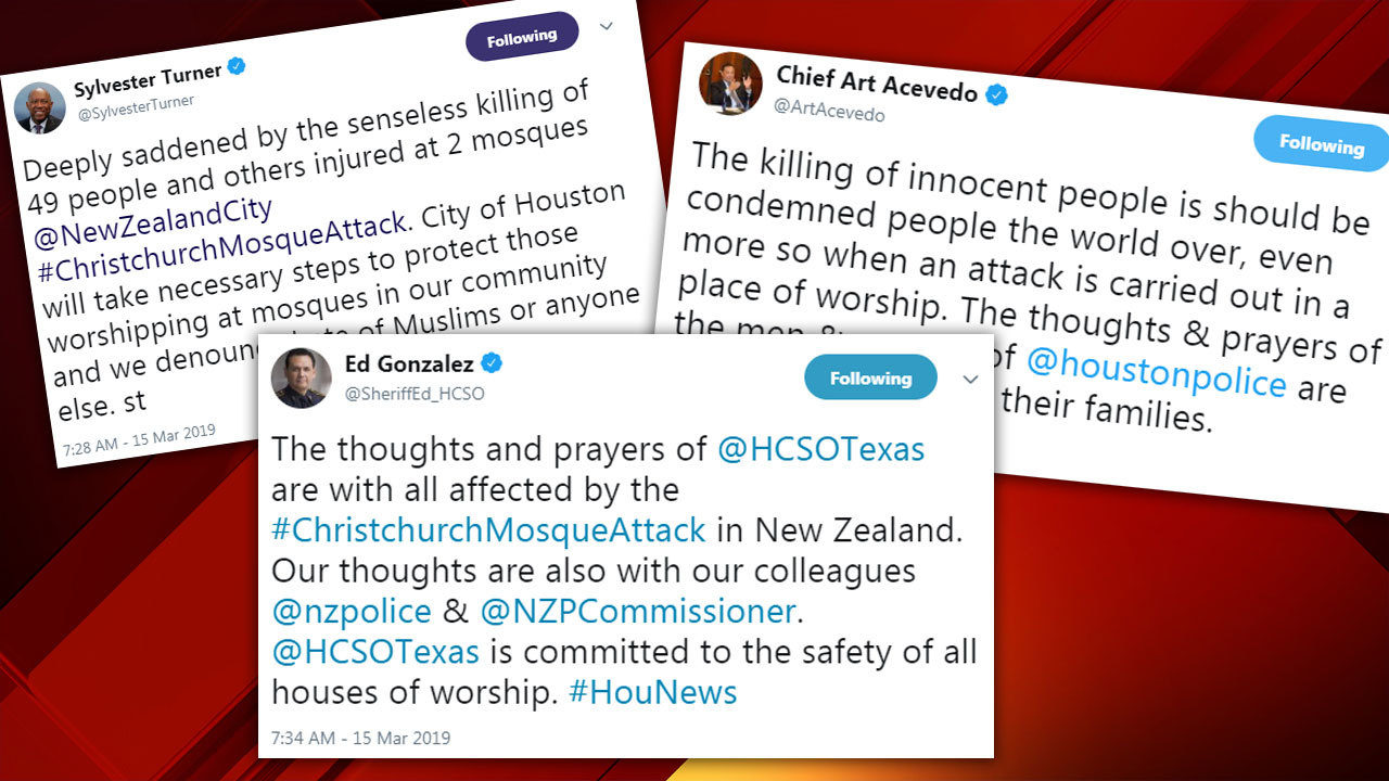 New Zealand Attack: How Houston Leaders Are Reacting To New Zealand Mosque
