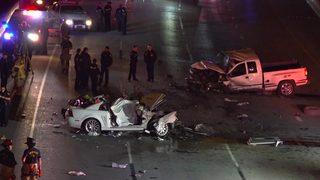 Innocent driver killed, passenger hospitalized after wrong-way crash
