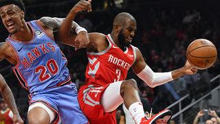 James Harden, Clint Capela lead Rockets to easy win over Hawks