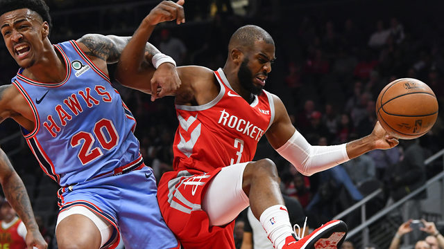 James Harden, Clint Capela lead Rockets to easy win over Hawks