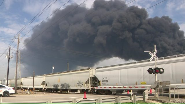 Fire rages through night at Deer Park chemical facility