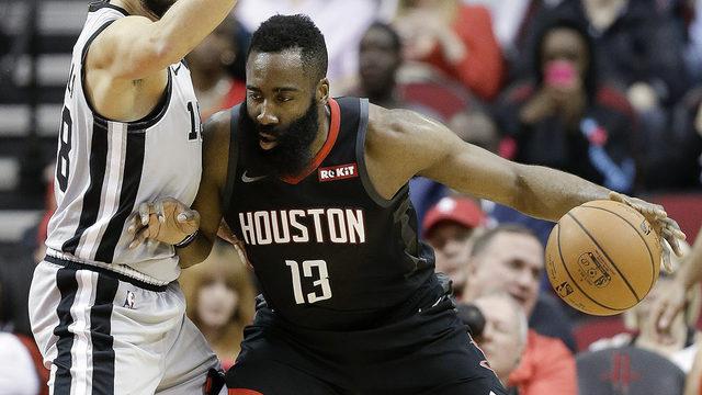 James Harden ties career best with 61, Rockets beat Spurs 111-105