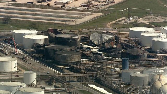 ITC still working to empty chemicals from tanks week after fire