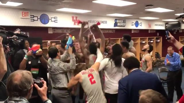 UH celebrates historic win after clinching spot in Sweet 16