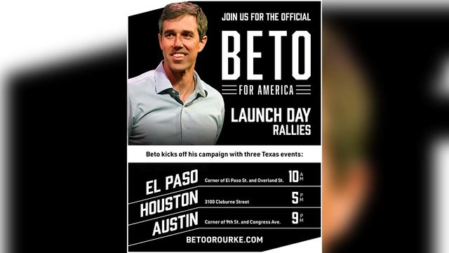 Beto O'Rourke to kick off presidential campaign with rally in Houston