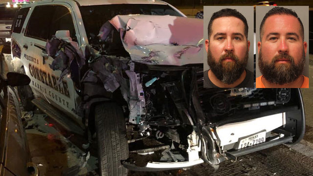 Twins charged with DWI, accused of crashing into patrol vehicle