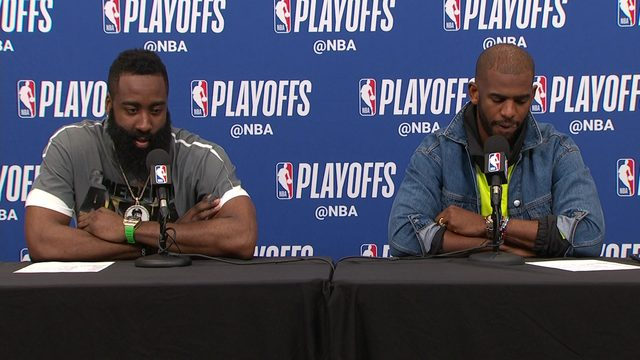 James Harden, Chris Paul talk about Game 3 win