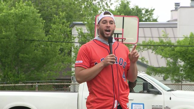 Astros player George Springer teaches kids about fire safety