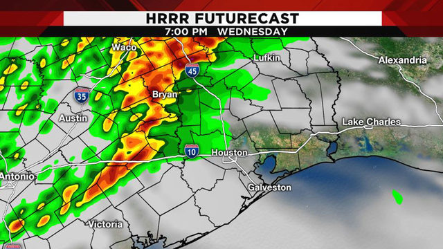 Severe weather moving through Southeast Texas