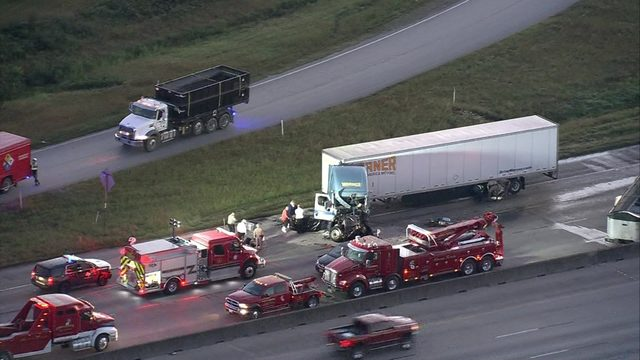 18-wheeler accident causing major delays on I-10 near Katy
