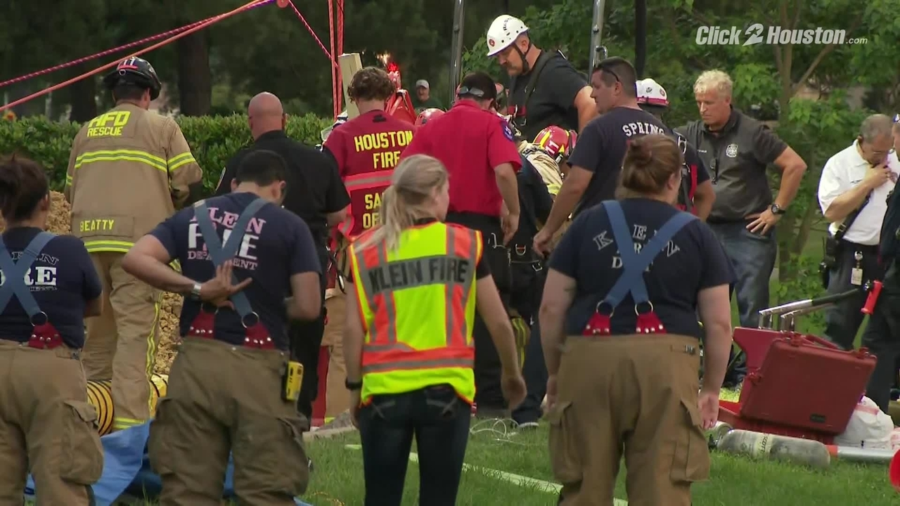 Lucky to be alive': Crews rescue worker trapped in collapsed