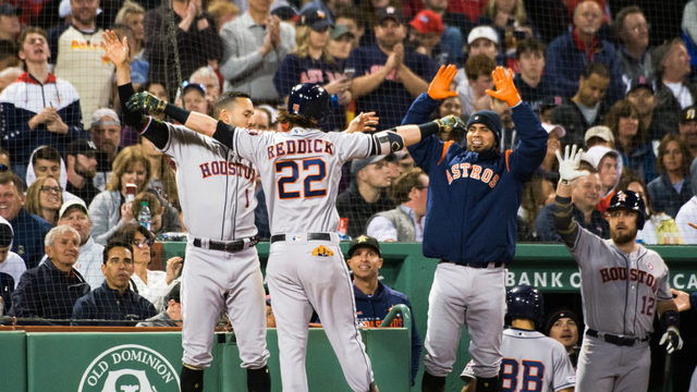 Astros start fast&#x3b; beat Red Sox 7-3 for 10th straight win