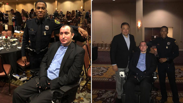 Officers injured in fiery crash honored at 100 Club banquet