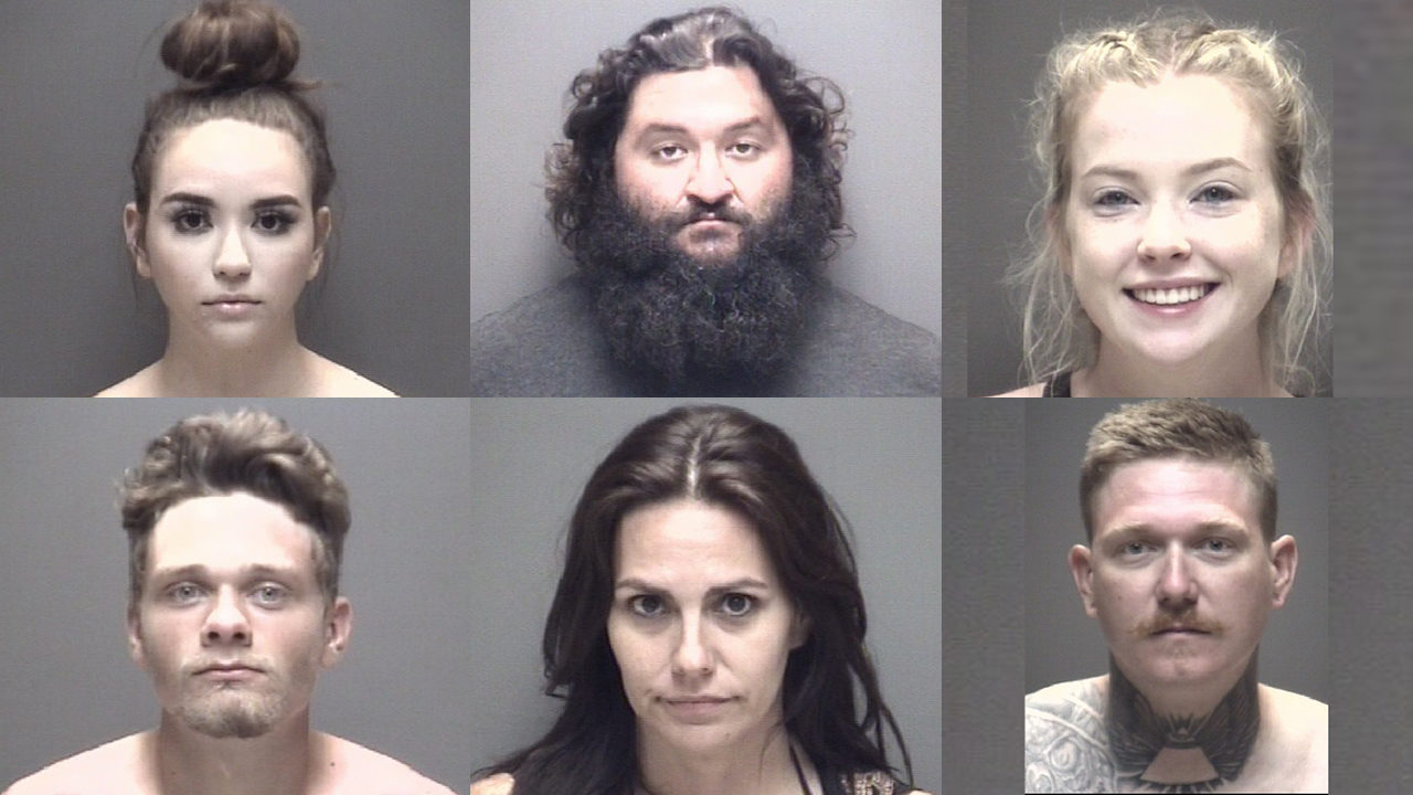 These are the people arrested at 'Go Topless' Jeep Weekend in