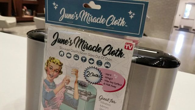 As Seen on TV Tuesday: June's Miracle Cloth for any surface - no cleaners needed
