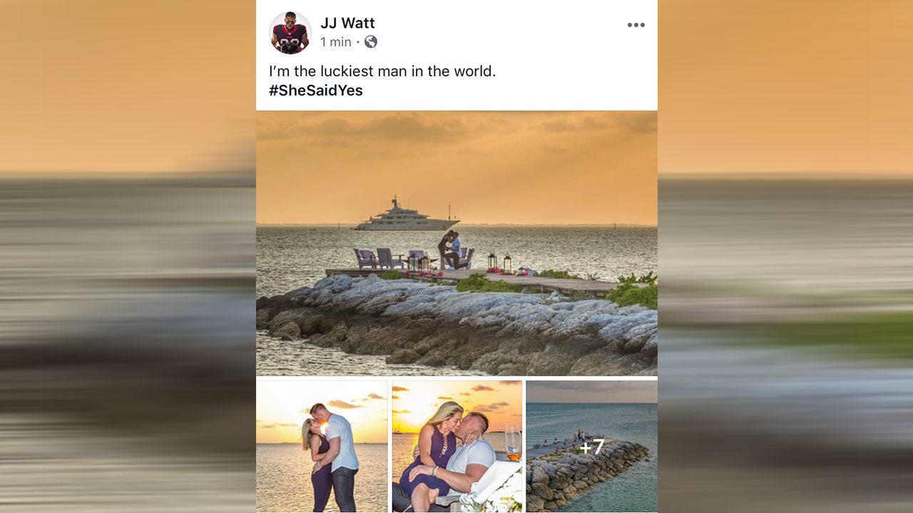 She Said Yes Jj Watt And Kealia Ohai Are Engaged