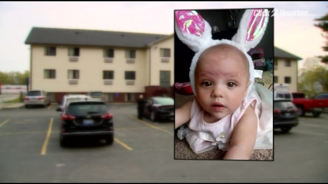 Baby girl found alive with dead parents in motel room