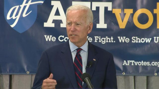 Former VP, presidential hopeful Joe Biden hosts town hall in Houston