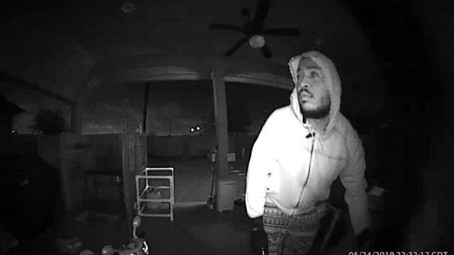 Surveillance video captures image of burglar possibly tied to several…