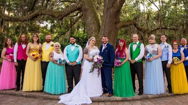 Just magical: Bride with a serious love for Disney tricks out her…