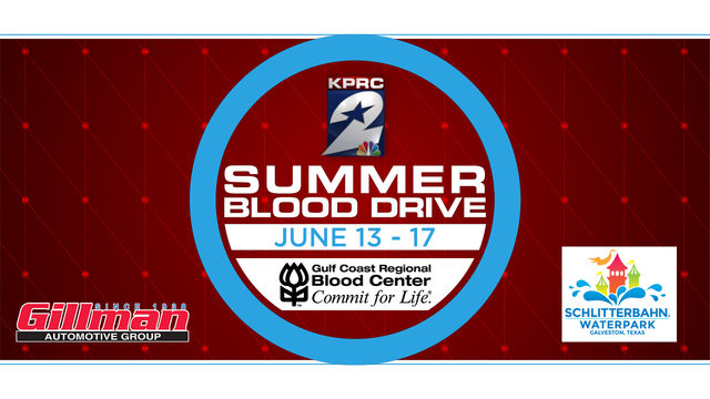 Give to KPRC 2's Summer Blood Drive