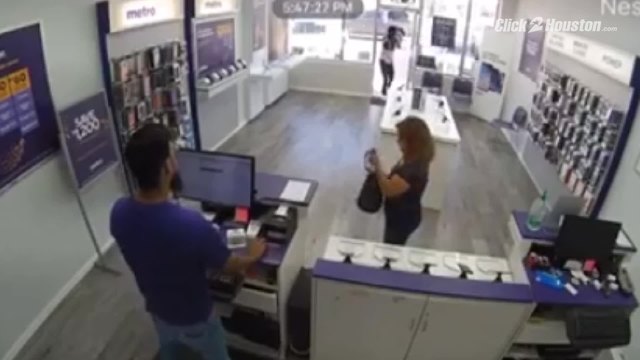 Grandmother injured during robbery at phone store