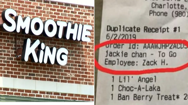 N-word, 'Jackie Chan' written on receipts at now-shuttered Smoothie King shops