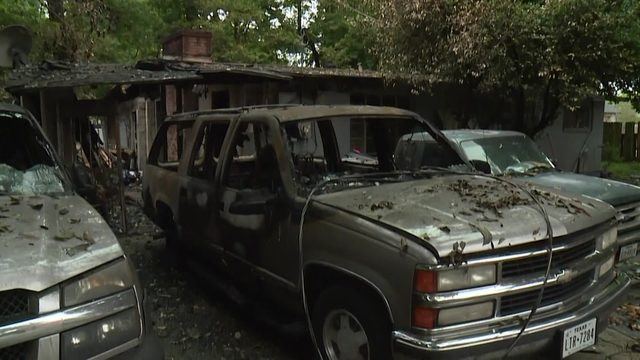 Family loses everything in north Houston house fire