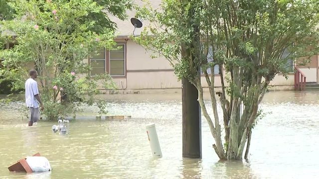 Water covers parts of Kendleton in Fort Bend County