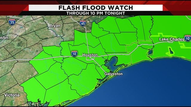 Flash flood watch in effect as tropical moisture moves through