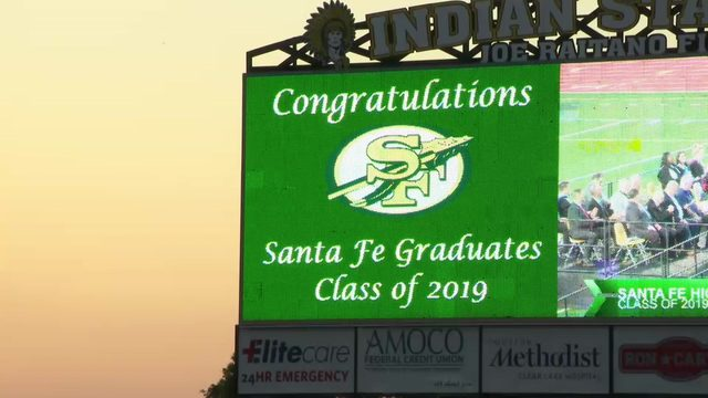Santa Fe High School graduation tonight