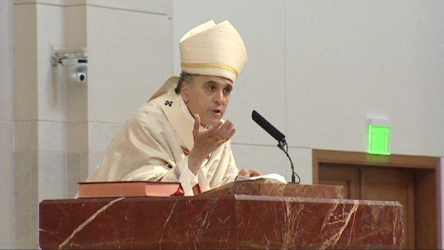Group holds protest, calls for Cardinal DiNardo to step down