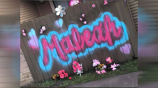 Local man paints mural of Maleah Davis' name on fence of apartment where…
