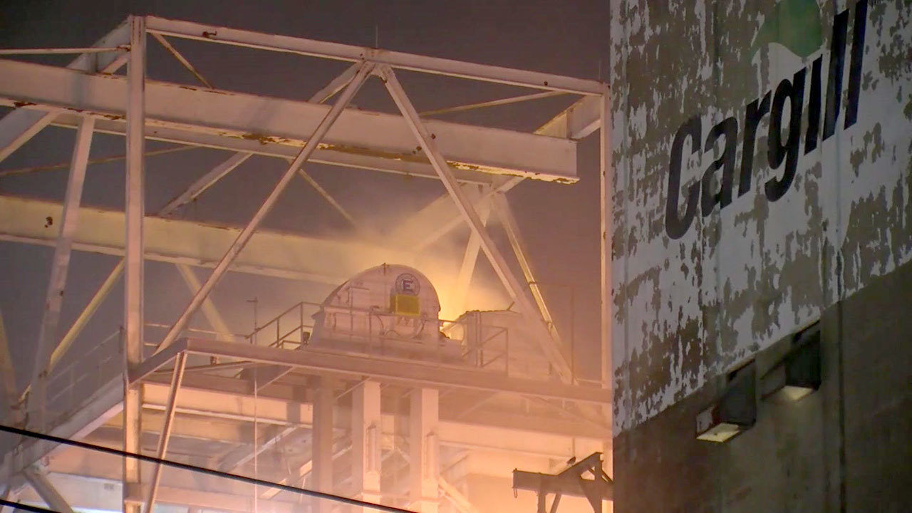 4 Firefighters Treated While Fighting Channelview Silo Fire