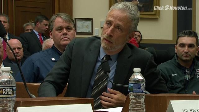 Jon Stewart speaks before Congress