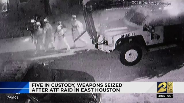 5 in custody, weapons seized after ATF raid in east Houston
