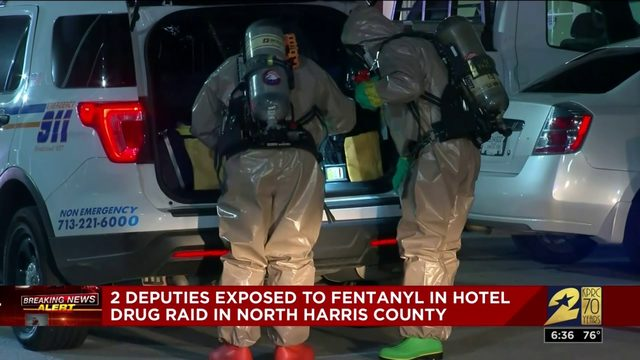 2 deputies exposed to fentanyl in hotel drug raid