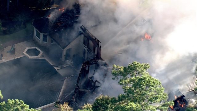 2 workers injured during house fire in The Woodlands
