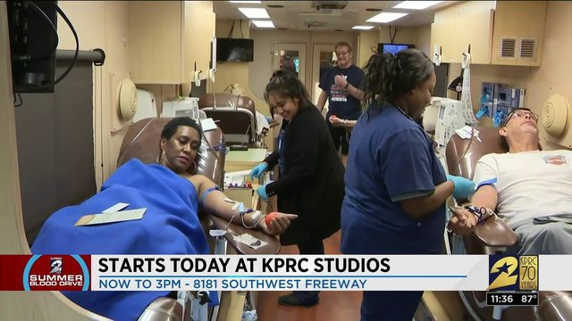Day one of the KPRC2 Summer Blood Drive is underway