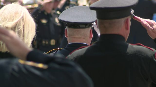 6 moving photos from Kemah Police Chief Chris Reed's funeral