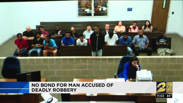 No bond for man accused of deadly robbery