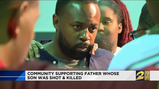 Community Supporting Father Whose Son Was Killed