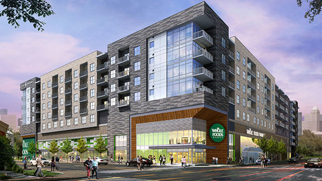 This new Midtown apartment complex has elevators down to Whole Foods