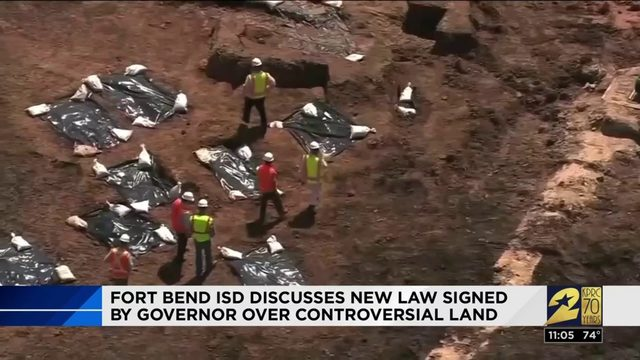 Fort Bend County officials address 'Sugar Land 95' cemetery following…