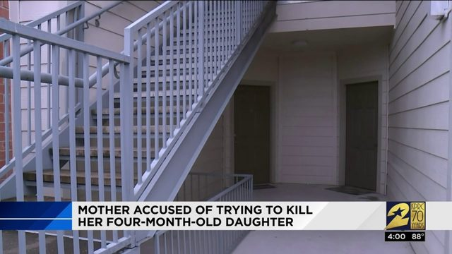 Mother accused of trying to kill her 4-month-old daughter