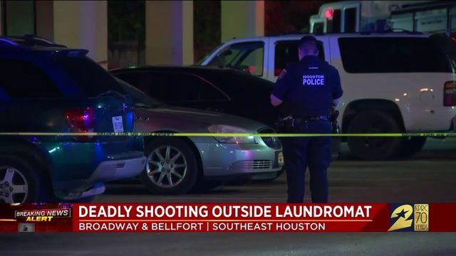 Deadly shooting outside laundromat