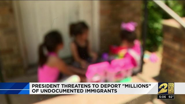 President threatens to deport 'millions' of undocumented immigrants