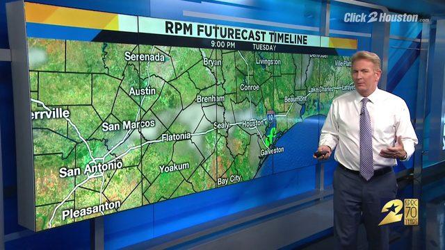 Warm Tuesday in Houston
