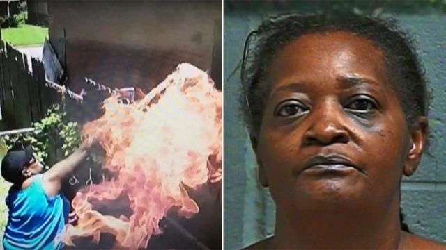 Accused arsonist foiled by her own cameras, authorities say